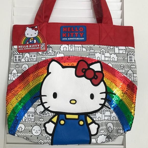 70a6a2985 Loungefly 40th Anniversary Hello Kitty Rainbow bag.  M_5b804ec0283095b072d4811f